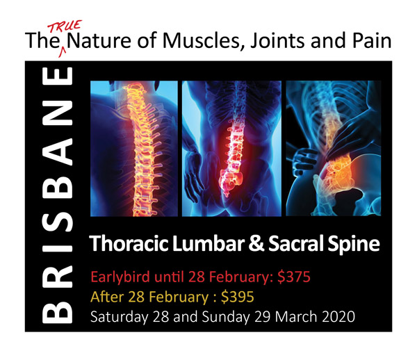Brisbane Ticket for Thoracic, Lumbar and Sacral Spine