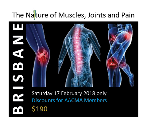 Nature of Muscles, Joints and Pain Workshop Brisbane - Saturday 17 February 2018